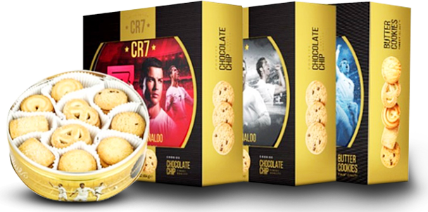 Cristiano Ronaldo CR7 Limited Edition Gift Tin Butter Cookies by Gourmet Gift Basket Store