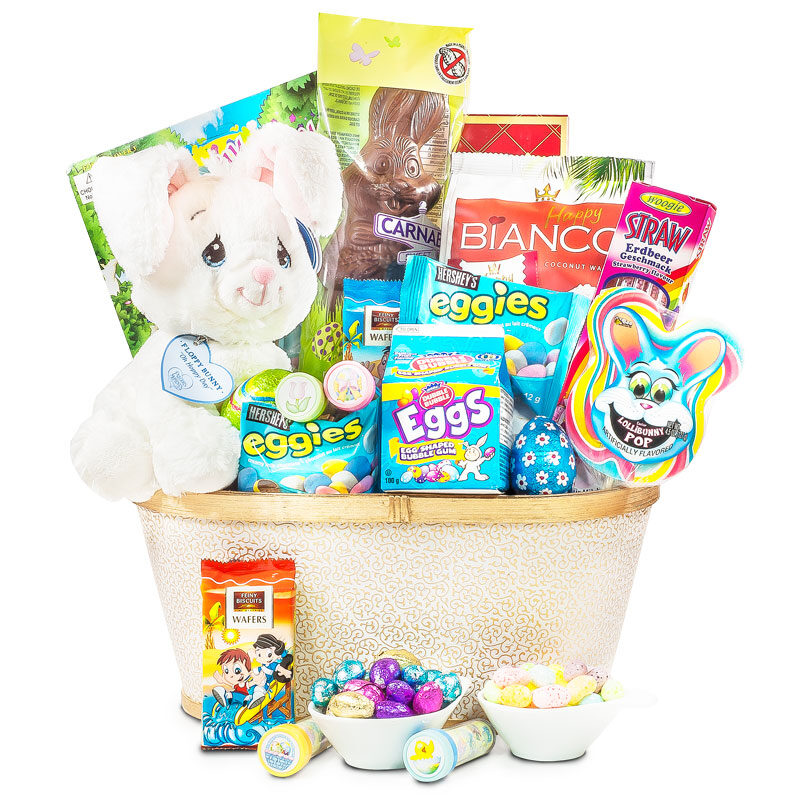 Floppy Bunny Easter Basket Precious Moments