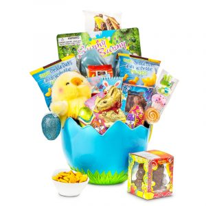 Egg Hatching Easter Chick Basket