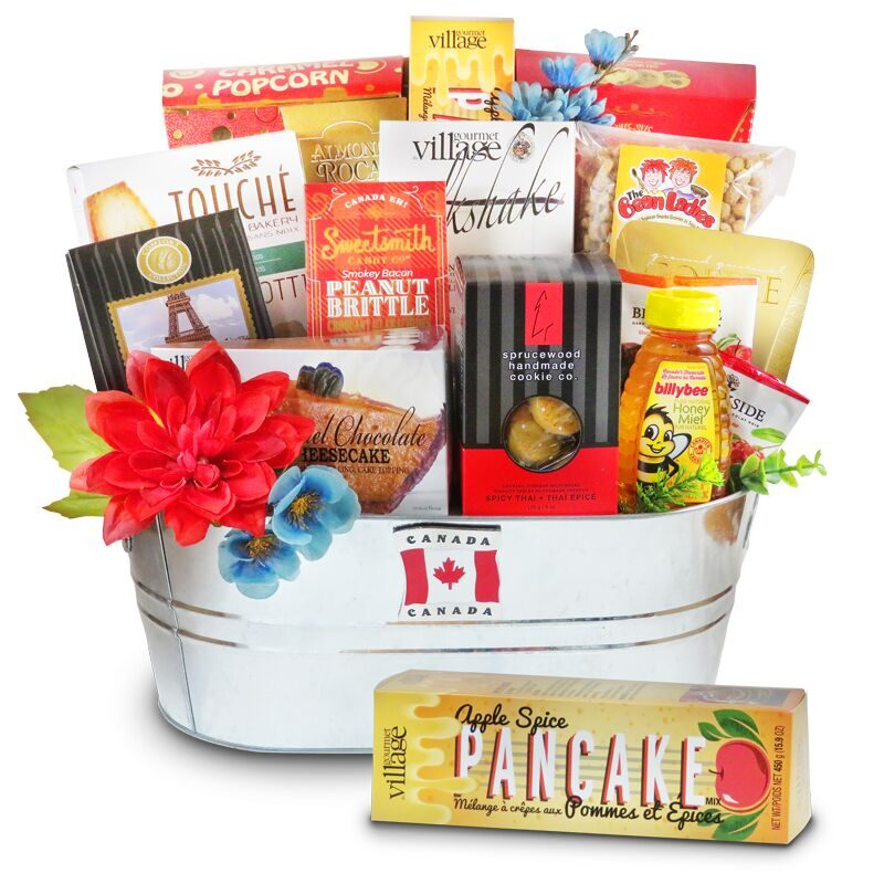 Sweets of Canada gift basket filled with Canadian gourmet sweet cookies