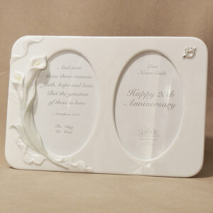 25th Anniversary Double Porcelain Frame
