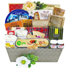 Summer's Best gift basket filled with refreshing light snacks.