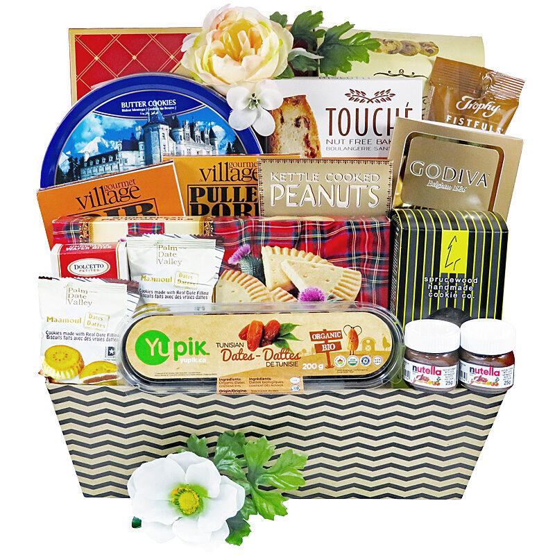 Summer's Best gift basket filled with refreshing light snacks.