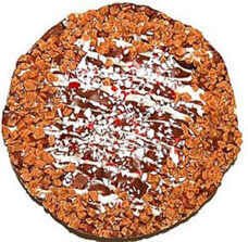 Festive Chocolate Toffee Pizza 6""